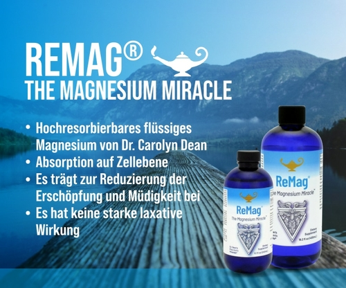 ReMag - The Magnesium Miracle | Dr. Dean´s piko-ionisches flüssiges Magnesium - 240ml